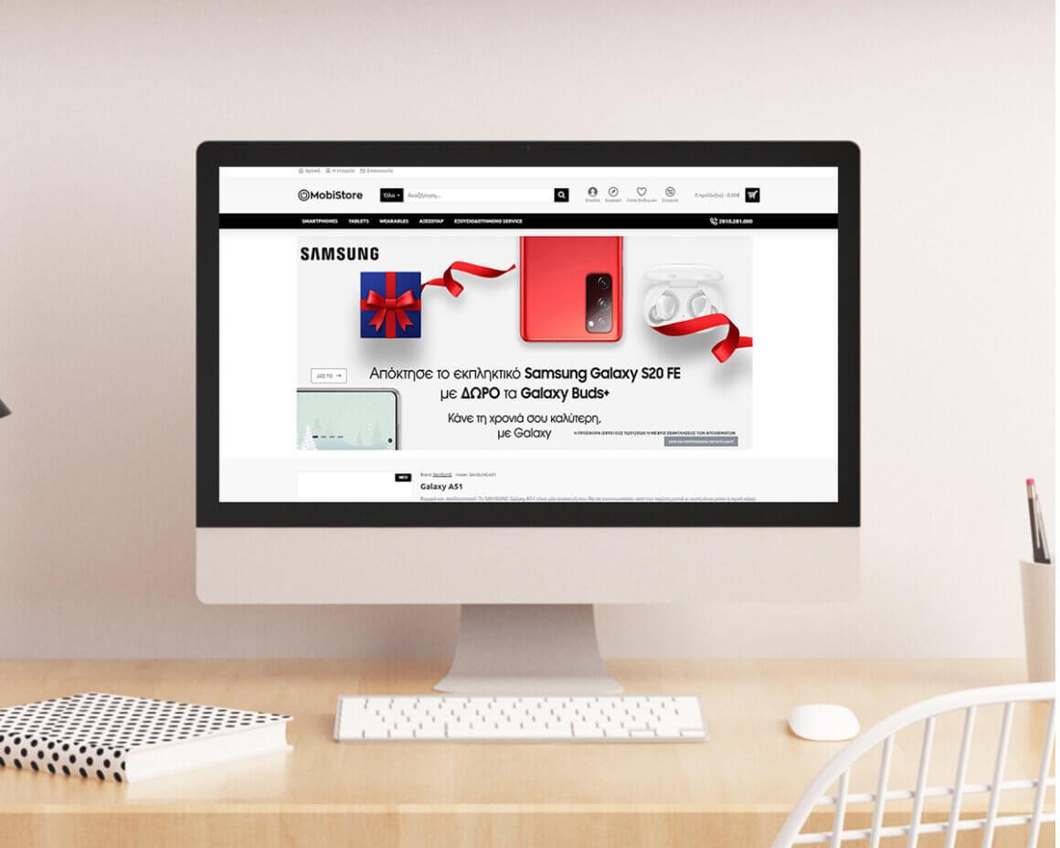 Κατασκευή σύγχρονου eshop από την Force Web για την Mobistore